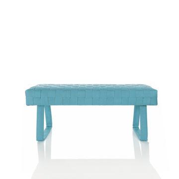 Design brandslang bankje blauw