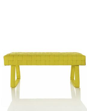 Design brandslang bankje geel