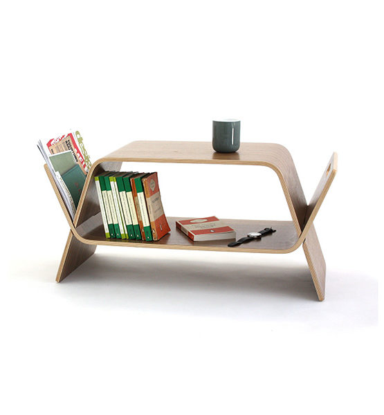 Embrace - Notenhout design salontafel - Multifunctioneel