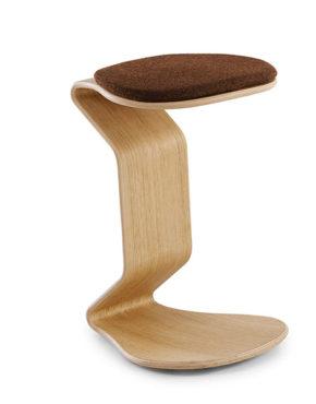 Ercolino design kruk L eiken