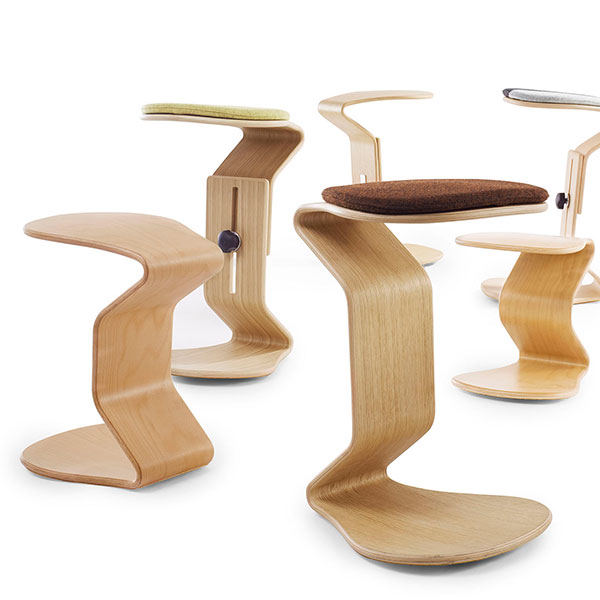 Ercolino ergonomisch balans design kruk hout