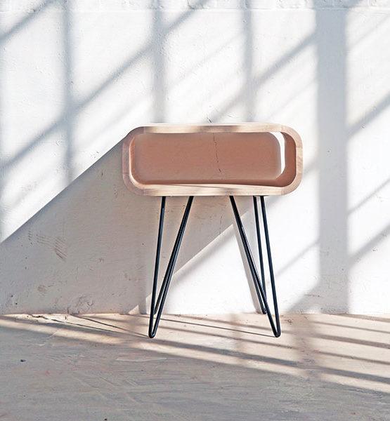 Design bijzettafel Metro hout