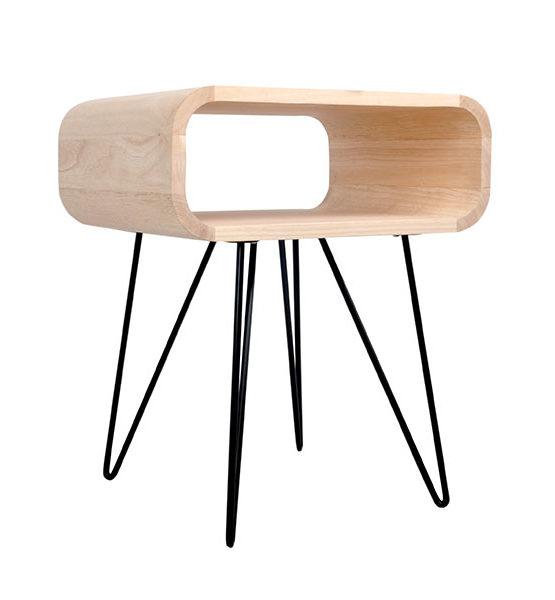 Design Metro bijzettafel hout