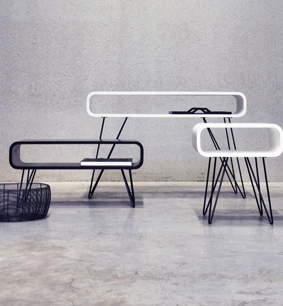Metro design tables black and white