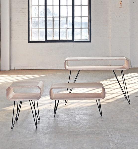 Metro design salontafel hout