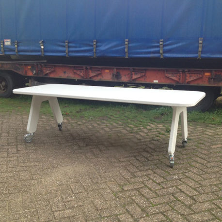 Picknicktafel Picknick design tuintafel polyester wit