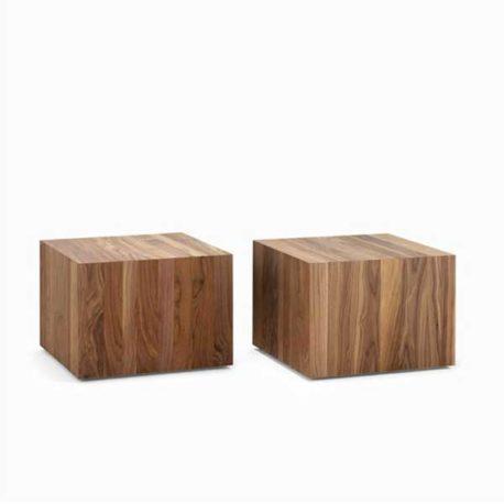 Kluskens kubus salontafel notenhout eikenhout