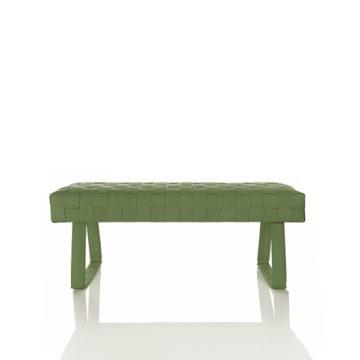 Design brandslang bankje groen