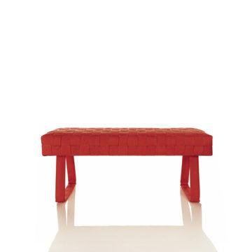 Design brandslang bankje rood