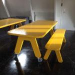 Picknick on Wheels (POW) design tafel kleur geel