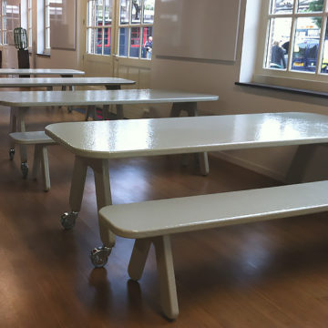POW design tafel polyester kleur grijs