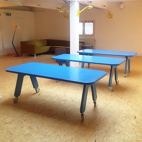 POW Picknick on Wheels tafel blauw