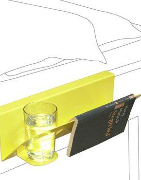 Design bedtafeltje - Hanno - Geel