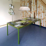 Design bouwborden tafel groen