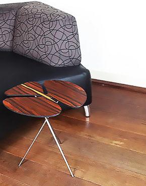 Design bijzettafeltje Pluk santos palissander
