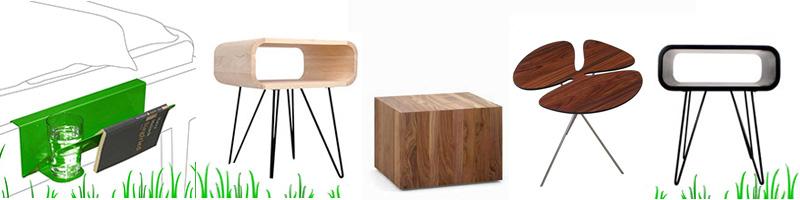 Design bijzettafel zwart wit hout