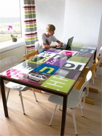 Reclame design tafel