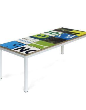 Bouwborden salontafel blauw groen wit