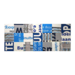 Bouwborden tafelblad blauw - wit