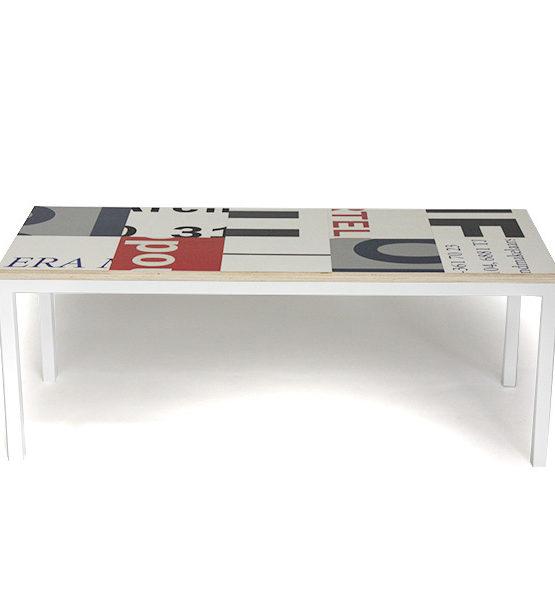 Bouwborden salontafel grijs wit rood