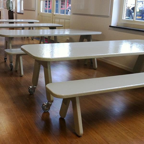 New POW tafel + bank | TAFELdesign.nl &LS43