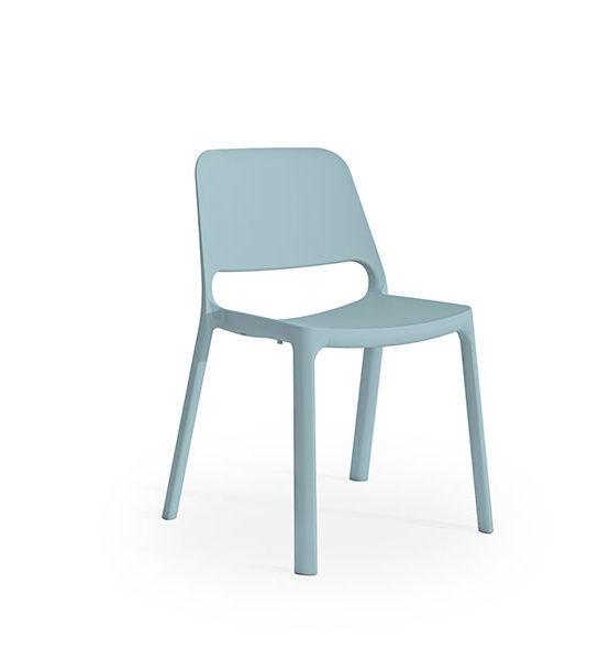 Kasper kunststof stoel, blauw