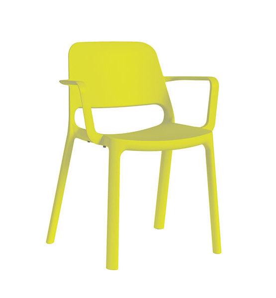 Kasper kunststof stapel stoel, geel