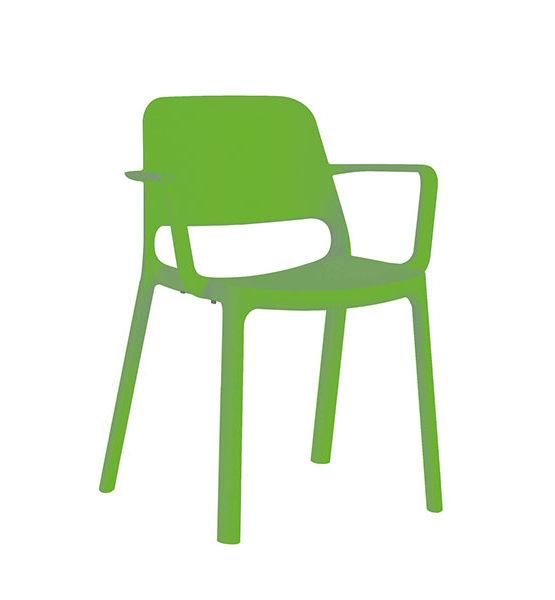 Kasper kunststof stapel stoel, groen