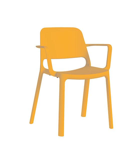 Kasper kunststof stapel stoel, oranje