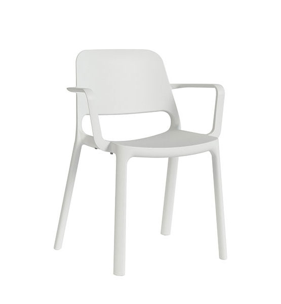 Kasper kunststof stoel, wit