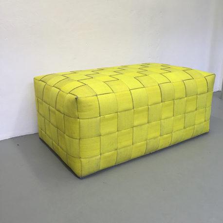 Brandslang poef geel