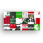 Bouwborden tafelblad 200 x 100 cm rood groen wit