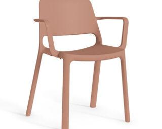 Kasper stoel poeder roze armleuning