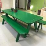 Picknick on Wheels verrijdbare tafel groen