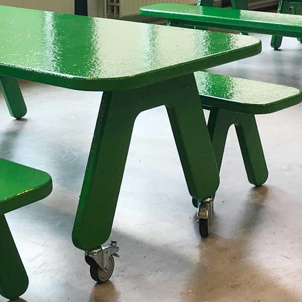 Verrijdbare project tafel, groen